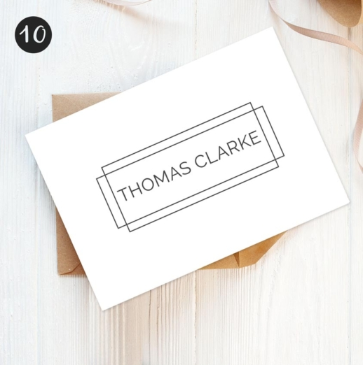 mens personalised stationery