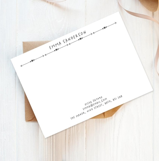 personalised stationery postcards