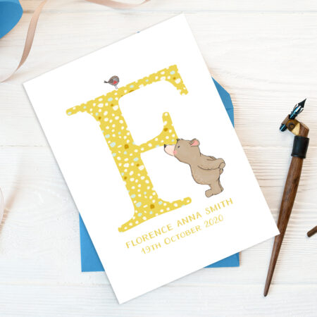 personalised baby birth announcement card baby birth announcement card