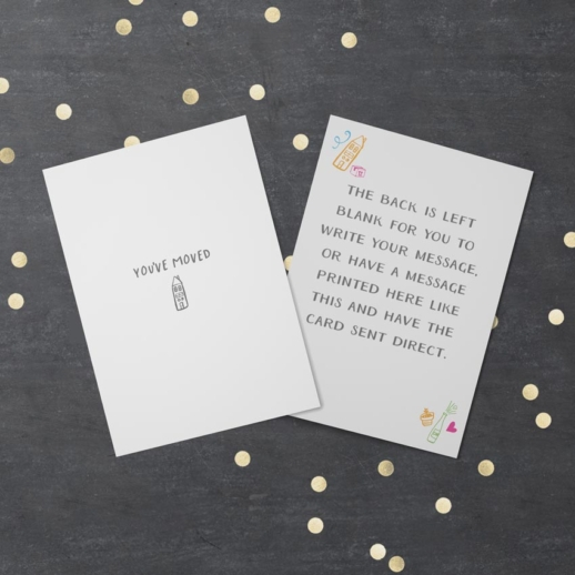 moved house - happy new home card