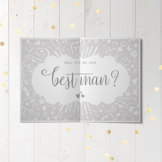 will you be my best man wedding party proposal card