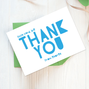 boyss thank you cards personalised stationery