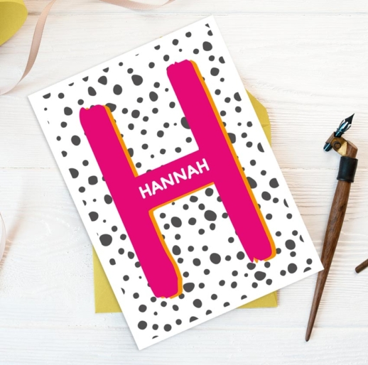Personalised Letter Birthday Card