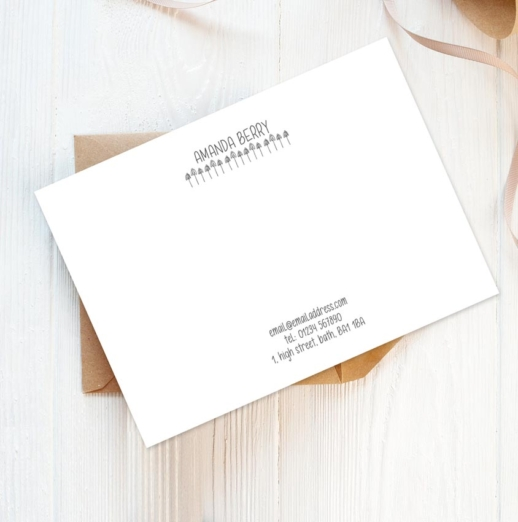 personalised stationery florals