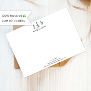 eco friendly recycled illustrated note cards set