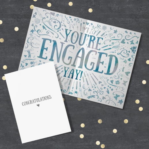 engaged - congratulations cards