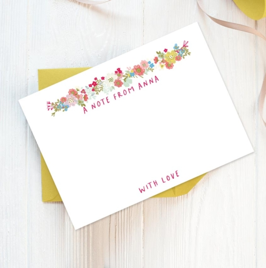 personalised stationery for girls