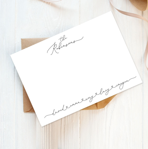personalised stationery family