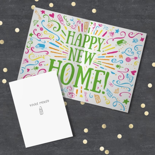 happy new home card - moved house card
