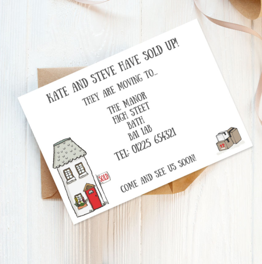 printed change of address cards
