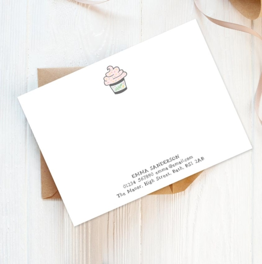 personalised stationery for bakers
