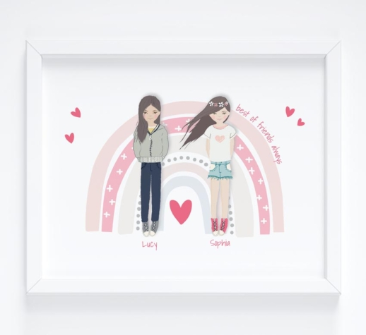 personalised portrait gift for girls