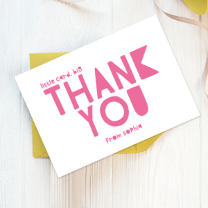 girls thank you cards personalised stationery