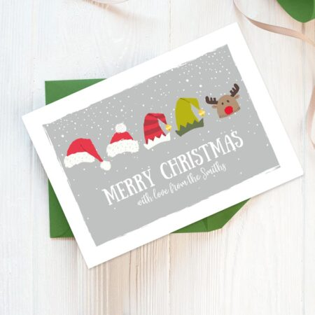 Christmas Hats personalised Christmas cards