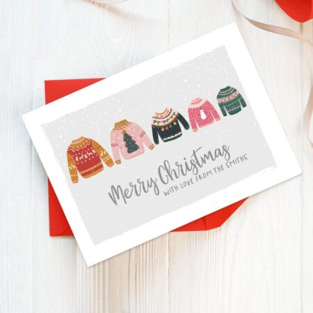 Christmas Jumpers personalised Christmas cards