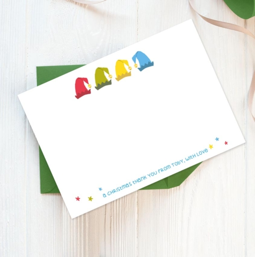 personlaised Children's Christmas Thank You Notes