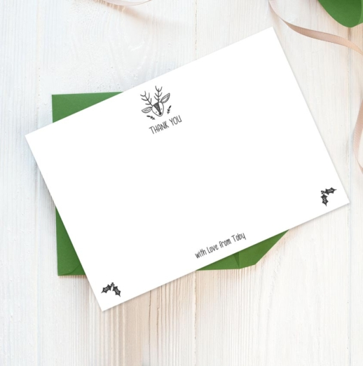 Personalised Christmas Stationery - a pack of 12 postcards