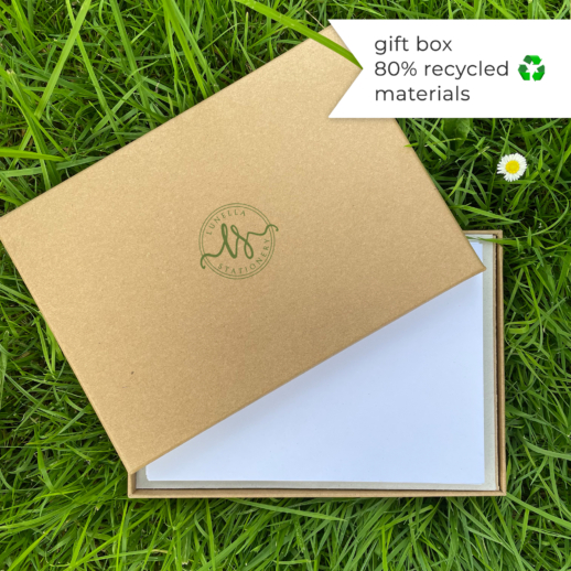 100% recycled eco friendly writing set in gift box