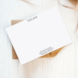 family initials personalised eco-friendly stationery