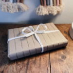 gift wraped personalised eco-friendly stationery