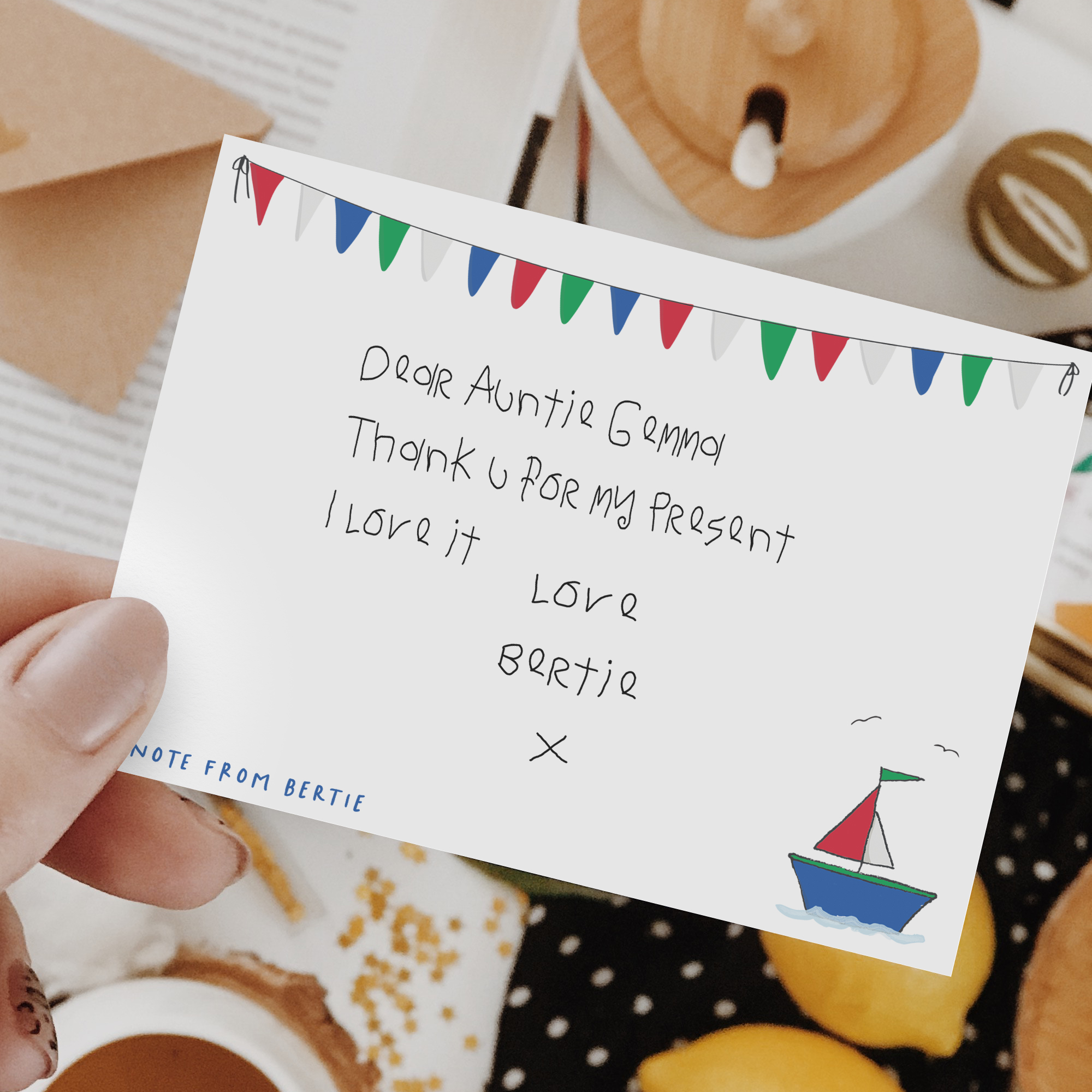 personalised nutical note cards